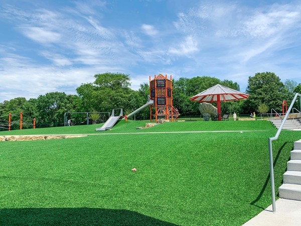 Hodge Park's new playground has a variety of equipment