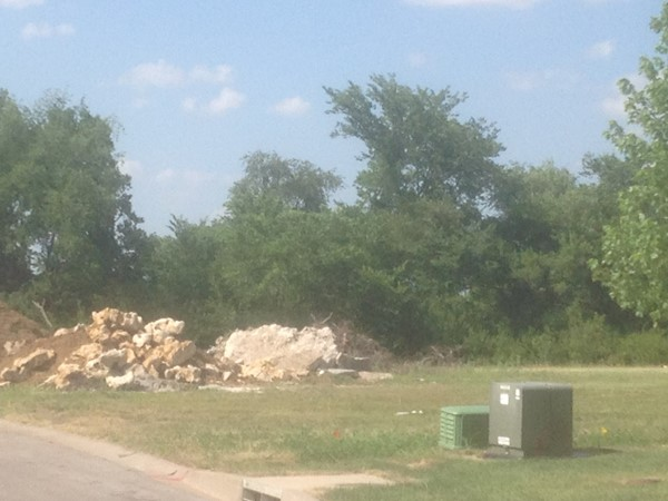 New home site at Creekside Woods
