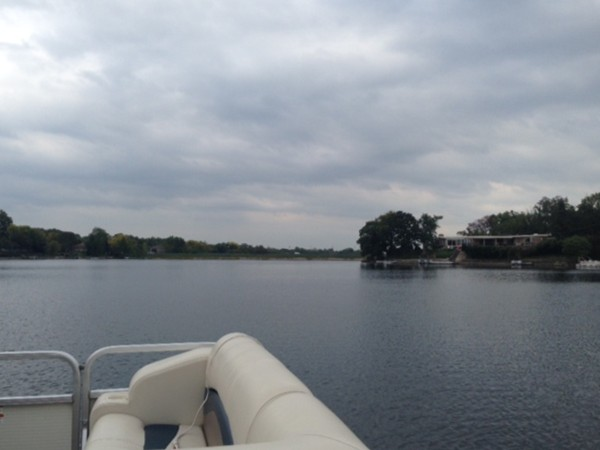 It truly is relaxing out here aboard a boat in the middle of Lake Waukomis