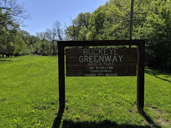 Buckeye Greenway, located across from Chouteau Elementary features hiking trails and a creek