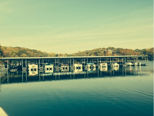 The docks at Riss Lake on a beautiful fall day!