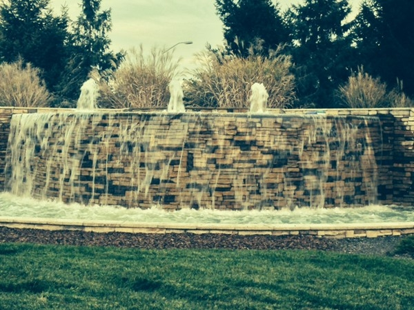 Waterfall at Staley Farms.