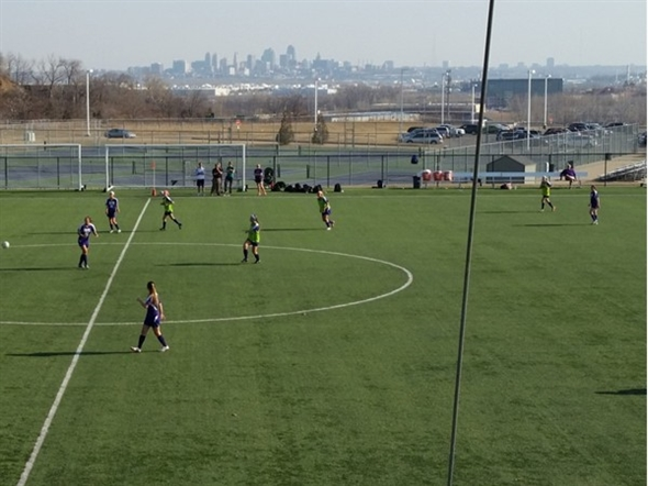 Beautiful Park Hill South soccer field located in Riverside