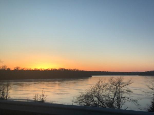 Blue Springs Lake at sunset
