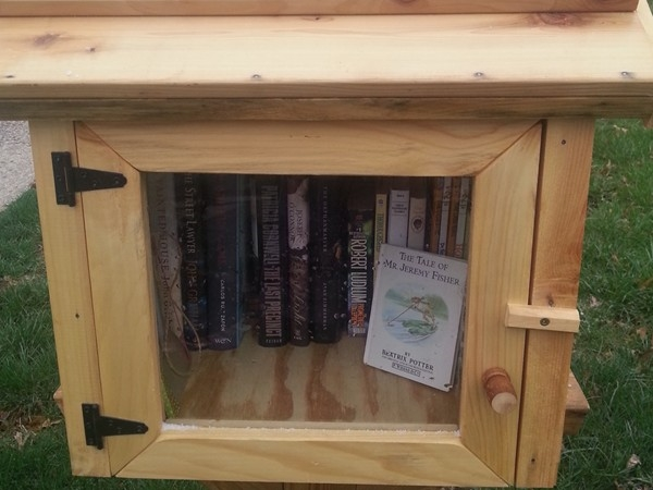 These little lending libraries work on the honor system and can be found throughout The Village.