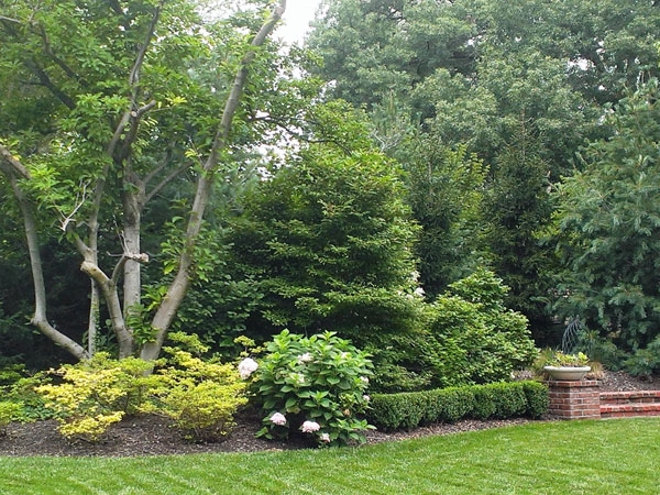 Beautiful landscaping in the common areas at Crestwood subdivision