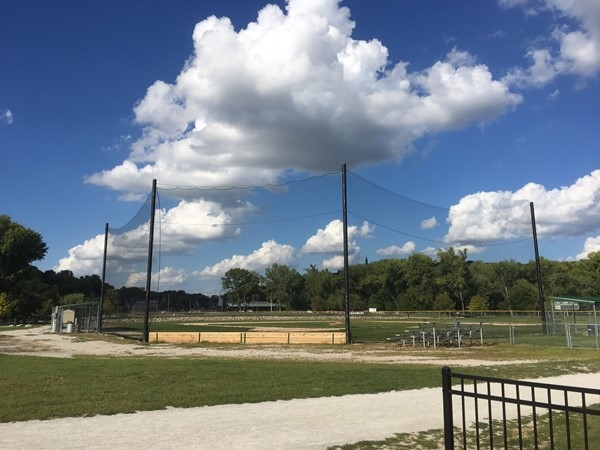 Baseball field at English Landing Park in Parkville