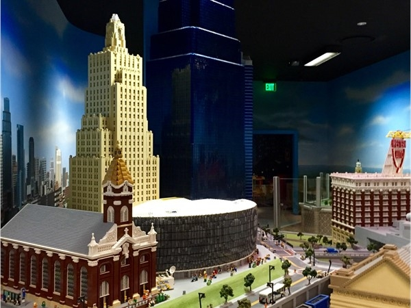 Lego model of Downtown Landmarks (Sprint Center, One Kansas City Place, Power and Light Building...