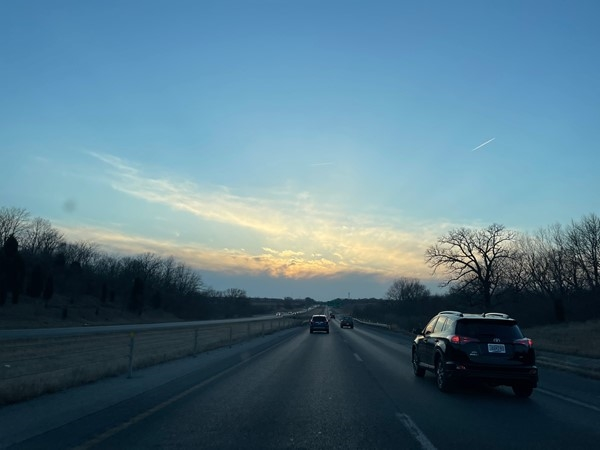 Gorgeous sunset on the way to Zona Rosa...love early springtime. Get out and get some fresh air