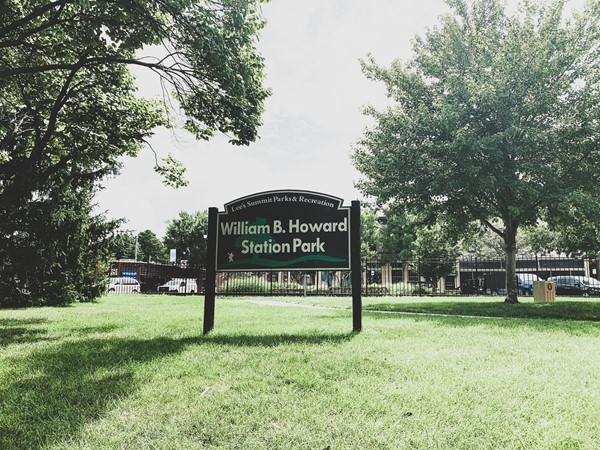 William B. Howard Station Park is located across the street from a yummy coffee shop