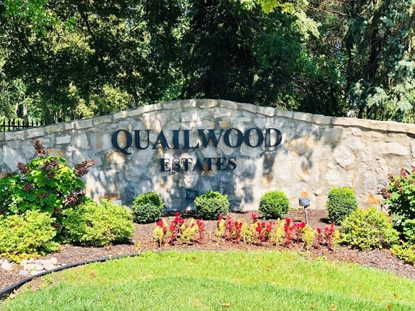 Quailwood Estates Neighborhood entrance at 143rd St. and Greenwood St.