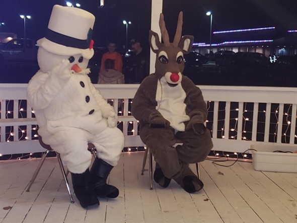 Frosty and Rudolph came out to see everyone too
