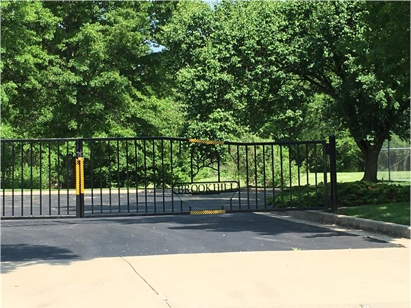 Gated entry to pool/tennis courts