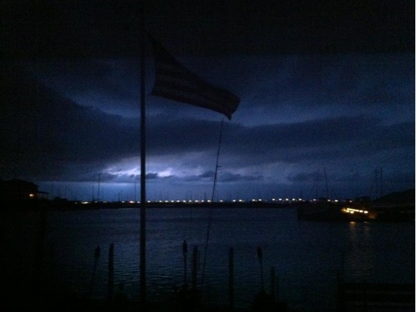 Lightning storm at the point