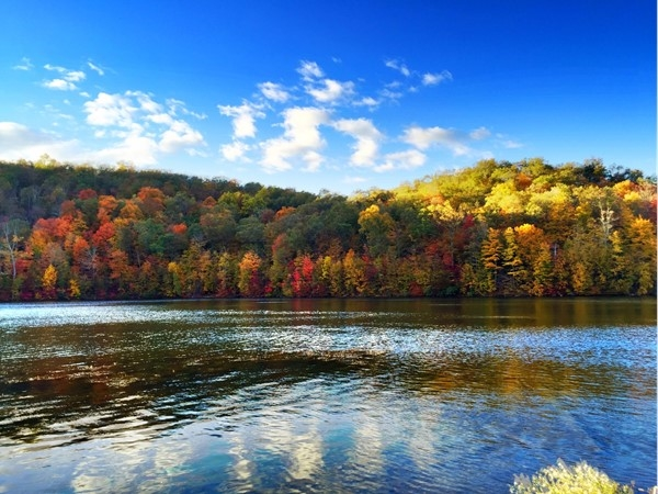 The Monksville Reservoir in the fall. Located on the border of Ringwood and West Milford