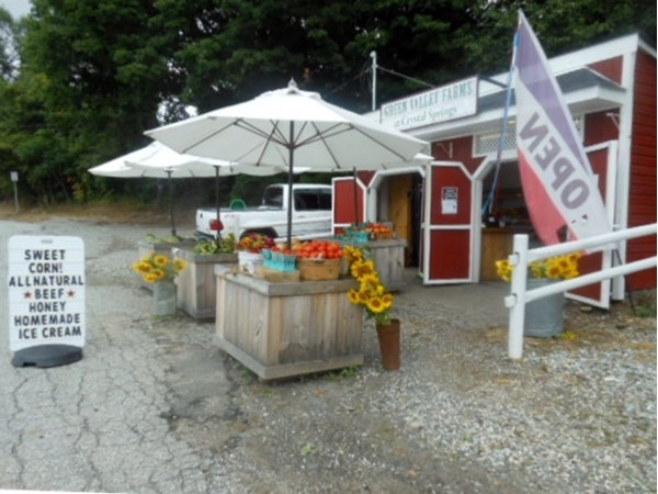 Green Valley farmstand located on Route 94, Vernon