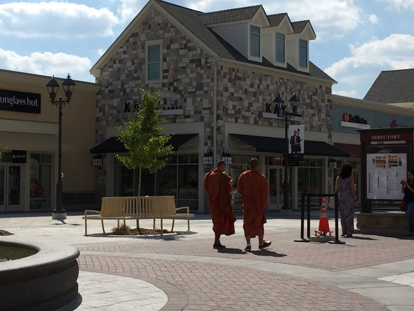 Buddhist monks enjoying a stroll at the Gloucester Premium Outlets