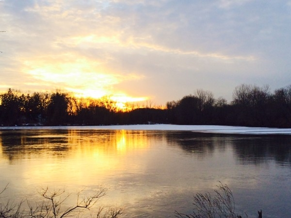 West Windsor Grovers Mill Pond at sunset