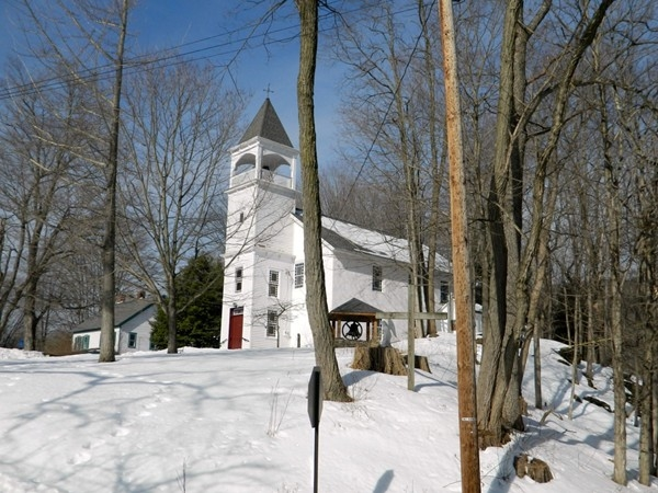 Harmony Hill Methodist Church, est 1802, still sits proudly perched upon a hill