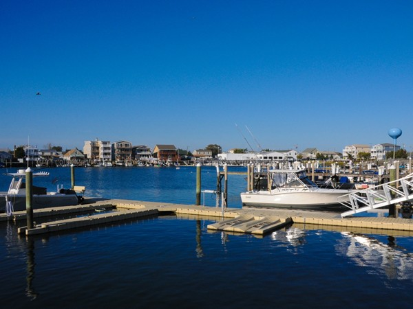 Boats line the marina in Brigantine