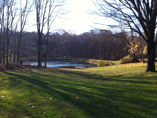 Triangle Lake at Randolph's Brundage Park.  A 232 Acre Park and Recreation Complex