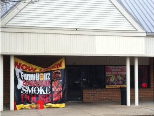 One of a kind Funnibonz BBQ Smokehouse, located in Foxmoor Shopping Center