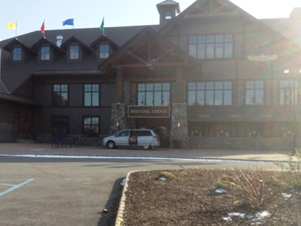 Red Tail Lodge, have a bite to eat while you enjoy watching the skiers