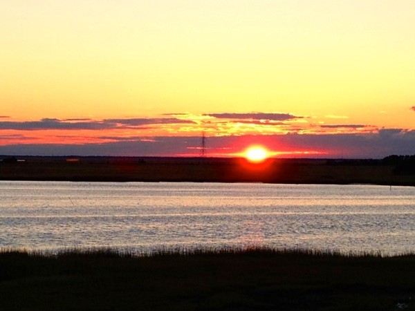 Sunset on the bay in Somers Point