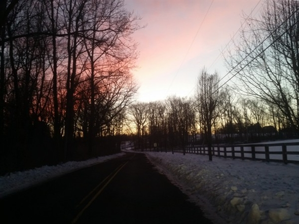 Winter drive through the back roads of Chester