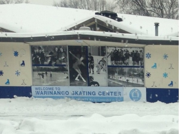 Ice skating in Warinanco Park. Great place to take the kids!