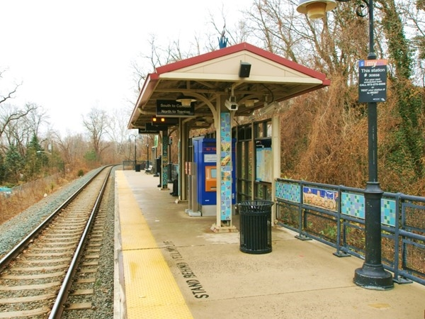 The River Line Light Rail station in Bordentown, goes from Trenton to Philadelphia and costs $1.50