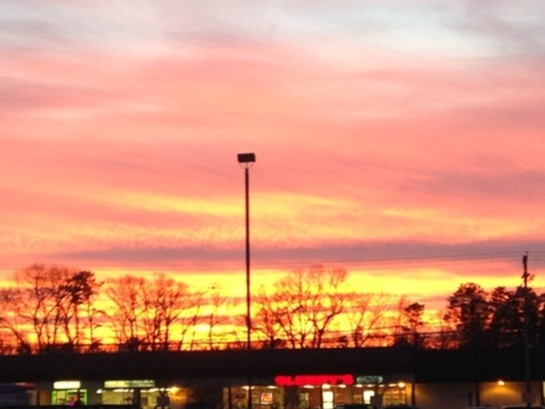 A beautiful December sun set in Howell.