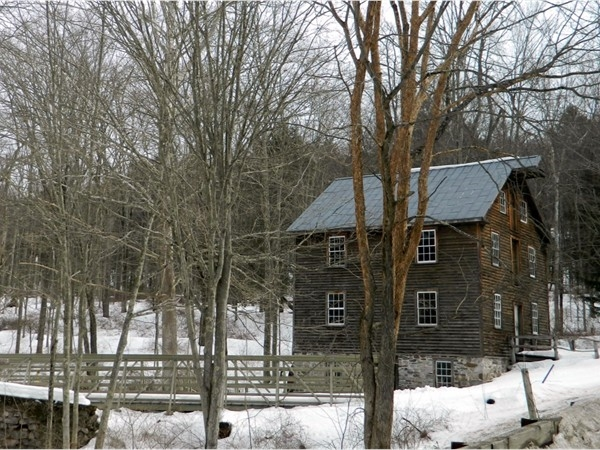 This 1848 Bartonsville, PA gristmill was dismantled & moved to Millbrook Village in 1995