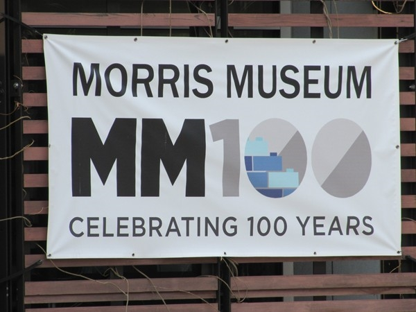 The Morris Museum 100 year celebration banner