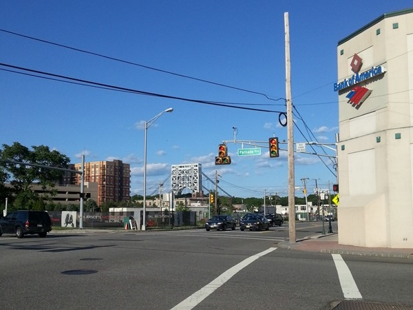 One of the intersections in Fort Lee