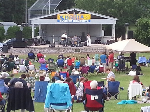 Sparta Township has so much to offer - for instance free Friday night concerts in the park