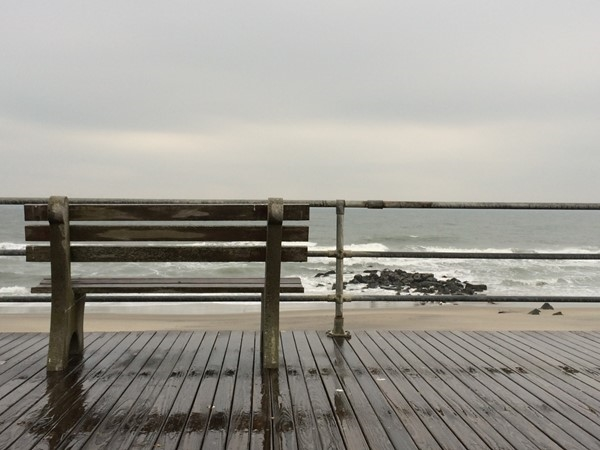 Even on a gloomy day at the Jersey Shore, it is always relaxing to stop by the beach in Allenhurst
