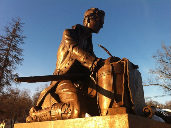 Statue of Thomas Paine in Burnham Park, Morristown NJ