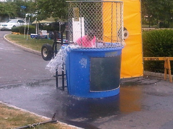 Annual Park BBQ party - dunking machine courtesy of Town Councilman Carlos Bernard