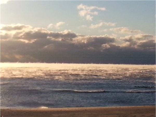 """It sometimes get's cold enough to see """"smoke"""" on the ocean, which was the case this morning"""
