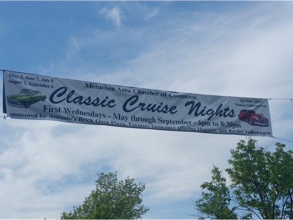 Downtown Metuchen hosts classic car cruise nights from May through September on Main Street