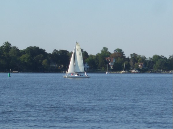 Calm waters and cool breezes on the scenic Toms River, off Ocean Gate