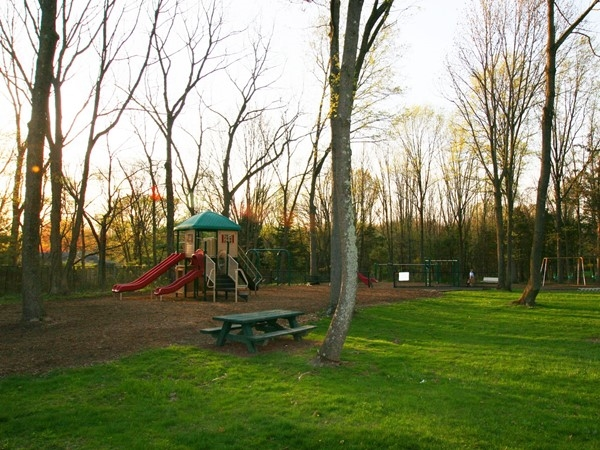 Rebel Hill Park, featuring tennis courts, playground and swings