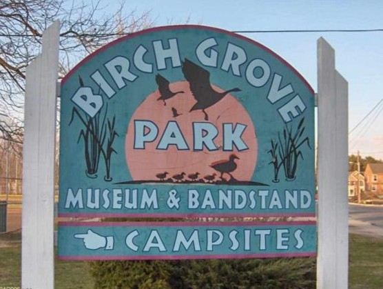 Entrance to Birch Grove Park in Northfield