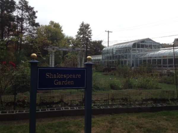 Shakespeare Garden and Greenhouse at St. Elizabeth College