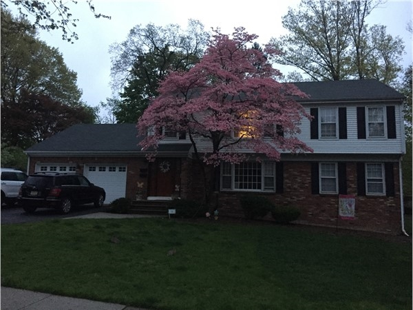 Home in Goodwin park at dusk