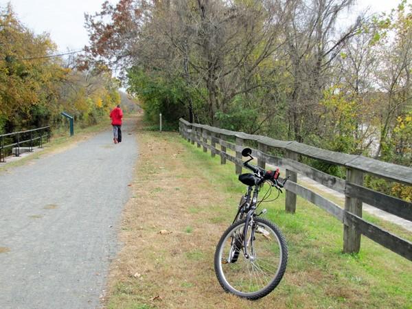 Biking along the D&R Canal in the fall