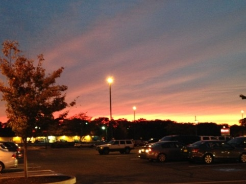 Beautiful sunset in Howell