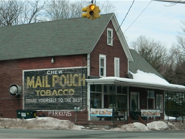 Layton General Store w/a Mail Pouch ad on it,these where known as a Mail Pouch Barn back in the day