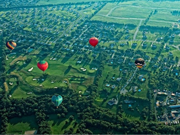 Overhead view from the balloon launch at the W.W. fair